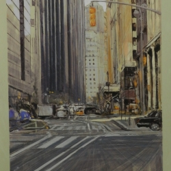 5th-Avenue-3.Óleo-sobre-papel